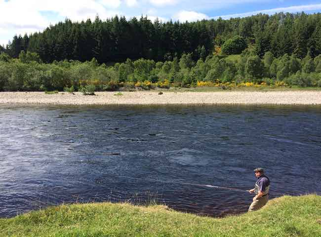 Fishing The Fly On The Tay