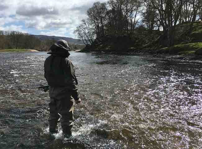 Guided Fly Fishing Salmon In Scotland