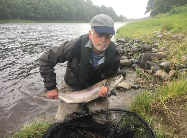 Guided Salmon Fishing Client