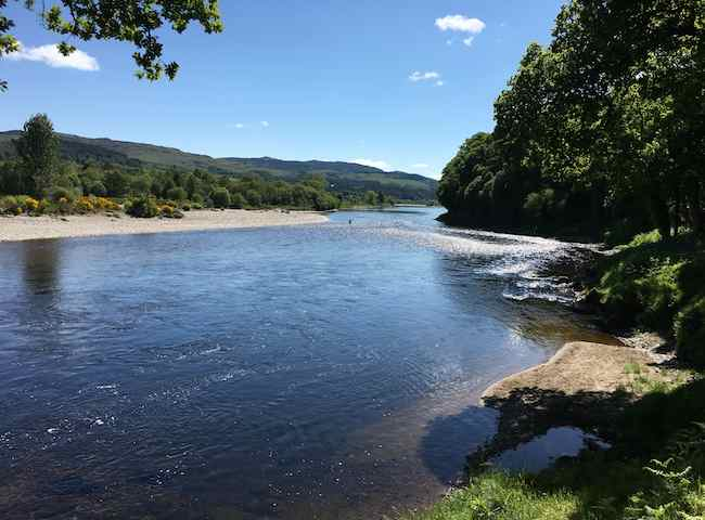 Perfect Salmon Pools On The River Tay